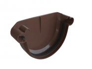 Заглушка жолоба универсальная Альта 125 коричневая