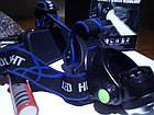 Фонарь Bailong BL-6699 Т6 Police Zoomналобный два аккумулятора 4,2В в комплекте, фото 5