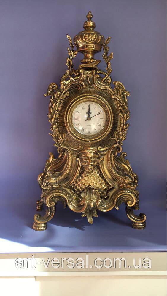 "Часы каминные ""Нептун"" бронза"