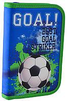 """Пенал школьный для мальчика одинарный без наполнения 1 Вересня Футбол HP-02 """"Goal"""""""