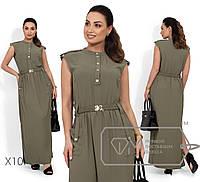 Платье в пол из ткани фай Разные цвета Большие размеры