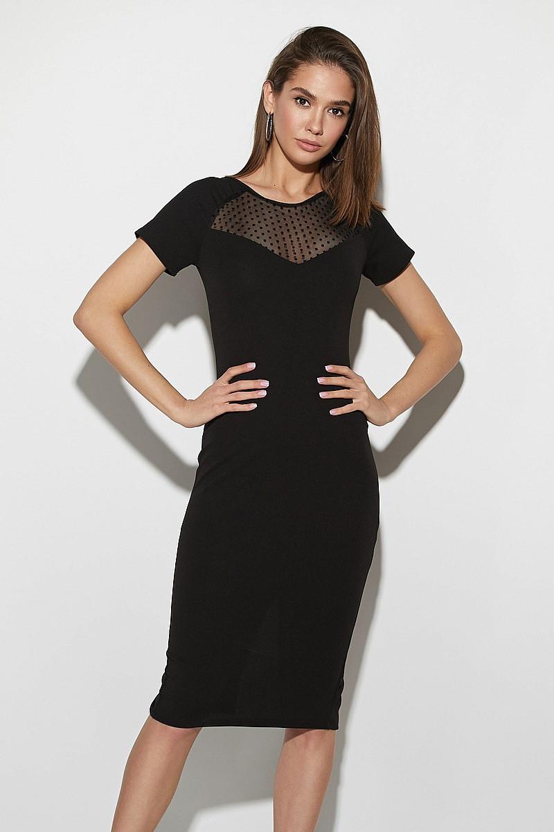 (S / 42-44) Витончене чорне вечірнє плаття Astra
