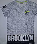 Летняя футболка подростковая Brooklyn 100% хлопок рост 158, Glo-story BPO-5275, фото 2