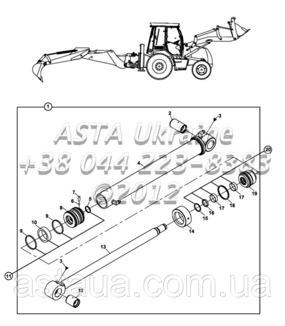 Операционная система ковша обратная лопата E3-8-1-OP2/01