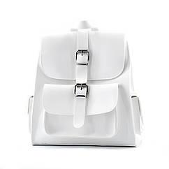 Рюкзак жіночий білий із екошкіри / Рюкзак женский белый из экокожи