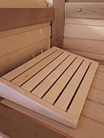 Подголовник деревянный для сауны, бани (липа).