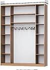 Шафа-купе з комбінованими фасадами ДСП з дзеркальними вставками, фото 2