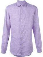 Сорочка унісекс чоловіча з натурального льону бузкова (кольори в асортименті), розміри XS-8XL.
