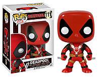 "Фигурка Funko Pop Мстители Марвел: Дэдпул ""Два меча"" (7486) #111 Marvel Deadpool, фото 1"