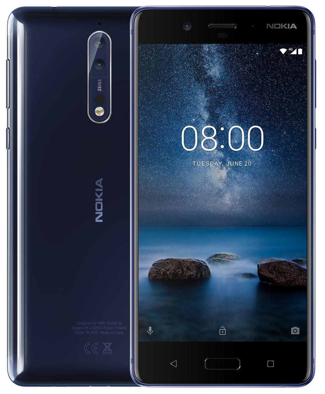 Смартфон Nokia 8 Dual SIM Polished Blue