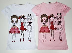 Белая футболка для девочек  Шопинг, фото 3