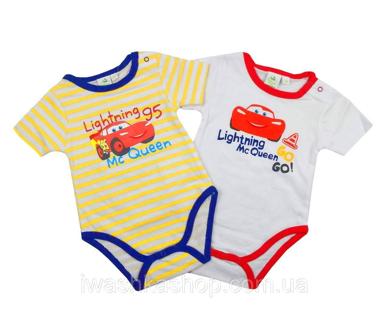 Комплект боди с короткими рукавами Тачки, Cars для мальчика 18 месяцев, р. 81, Disney baby
