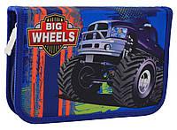 """Пенал 1 Вересня HP-02 """"Big Wheels"""" школьный для мальчика одинарный без наполнения"""