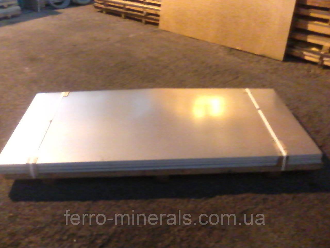 Лист оцинкованный 0,5мм 1000х2000 DX51D+Z80