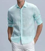 Мятная, сиреневая, голубая, и др цветов  рубаха из натурального льна размеры (можно отдельно) XS-8XL. , фото 1