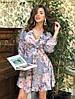 Платье с  отрезным лифом, широким поясом, цветочный принт, шифон. Размер:С,М. Разные цвета (Р 2463), фото 6