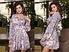 Платье с  отрезным лифом, широким поясом, цветочный принт, шифон. Размер:С,М. Разные цвета (Р 2463), фото 7