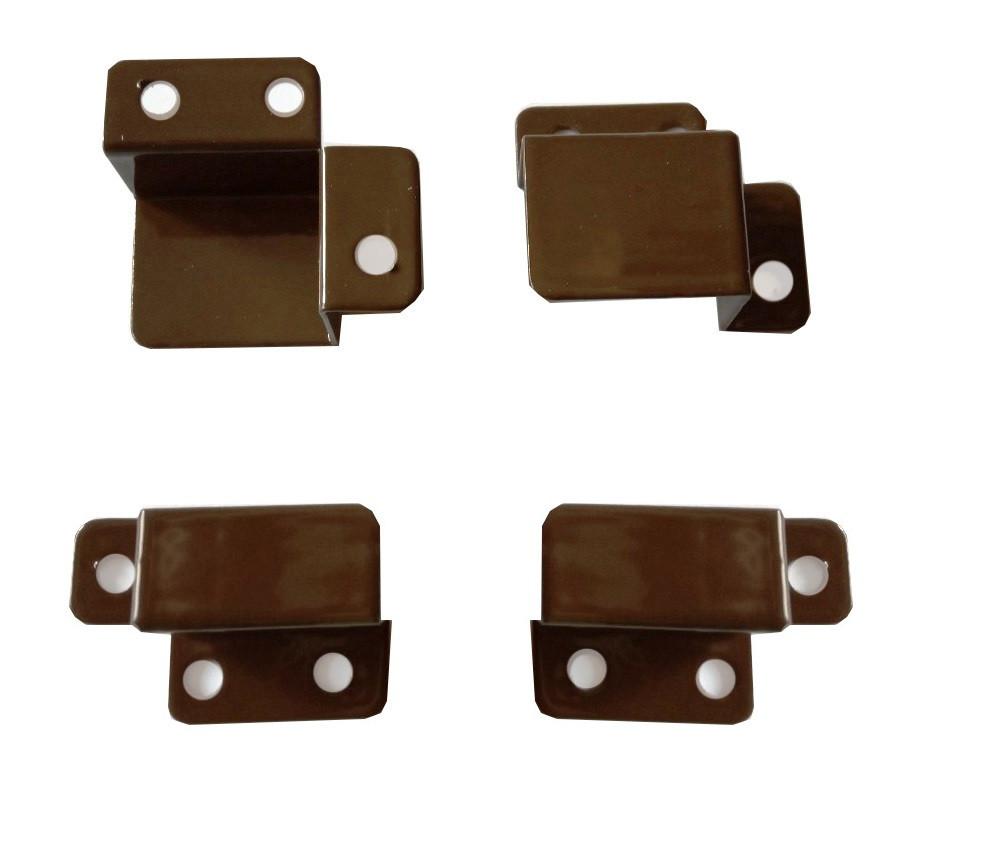 Кріплення для зовнішньої москітної сітки металеві (куточки, вони ж кишеньки) коричневі