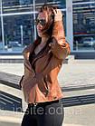 Куртка - Косуха Кожаная Женская Цвет Горчица 002ДЛ, фото 5