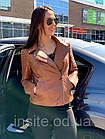Куртка - Косуха Кожаная Женская Цвет Горчица 002ДЛ, фото 9