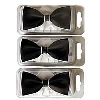 Галстуки-бабочки для мальчиков Dunpillo черные с белым платком в карман
