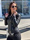 Куртка - Косуха Кожаная Женская Черная 0121КЖТ, фото 5
