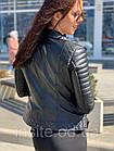 Куртка - Косуха Кожаная Женская Черная 0121КЖТ, фото 8
