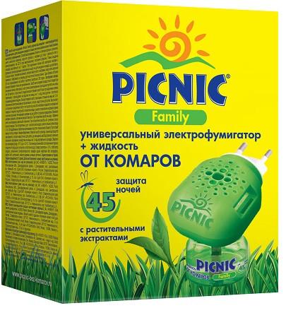 Комплект PICNIC Family электрофумигатор + жидкость 45 ночей