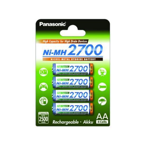 Акумулятор Panasonic Ni-MH AA 2700 mAh BK-3HGAE 4шт.