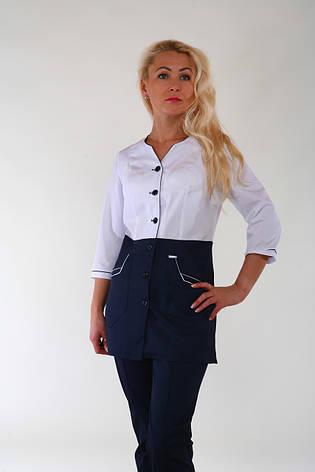 Медицинский костюм женский на пуговицах 3246 ( коттон 42-60 р-ры ), фото 2
