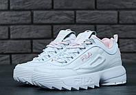 Кроссовки женские Fila Disruptor 2 White-Pink