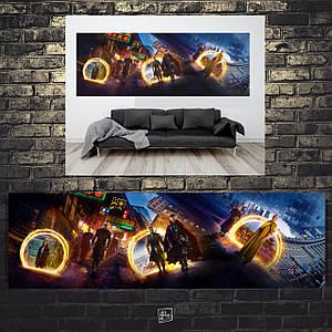 Постер Doctor Strange, Доктор Стренжд, панорама. Размер 60x22см (A2). Глянцевая бумага