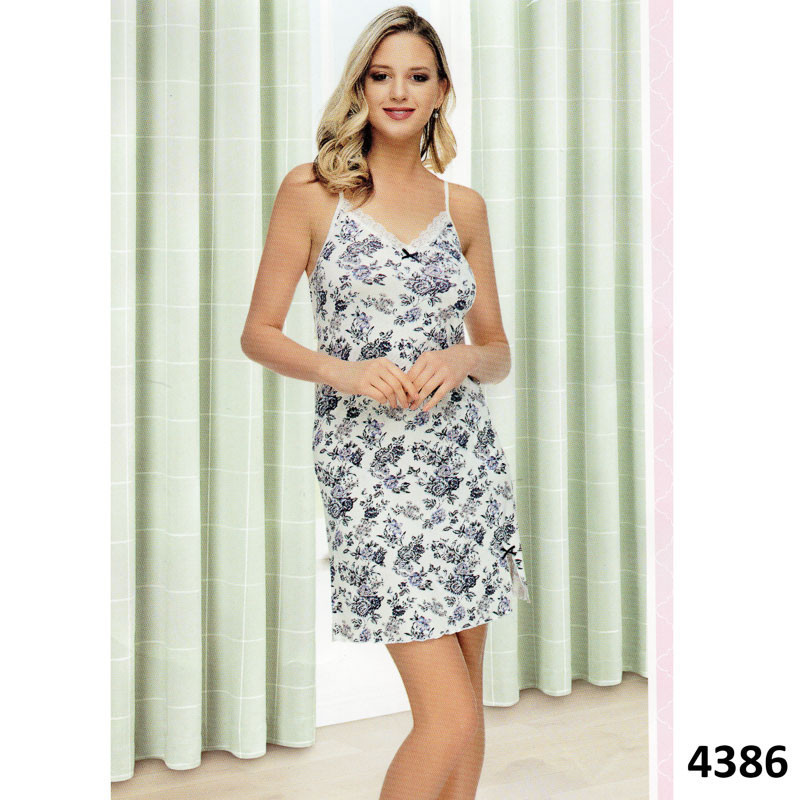 d921241e12b6cf2 Ночнушка женская с цветочным узором Pink Secret PK4386 L , выбрать ...