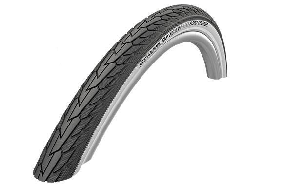 Покрышка 26x1.75 (47-559) Schwalbe ROAD CRUISER K-Guard Active B/W HS484 GREEN 50EPI