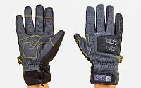 Перчатки теплые текстильные с закрытыми пальцами MECHANIX (р-р M-XL, черный)
