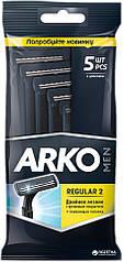 ARKO T2 одноразовый бритвенный станок с двойным лезвием 5 шт.