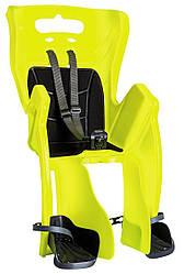 Детское сидение на велосипед Bellelli Little Duck Clamp детское до 22кг неоново-желтое с черной подкладкой (Hi Vision)