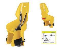 Детское сидение на велосипед Bellelli Lotus Clamp до 22кг, горчично-желтое