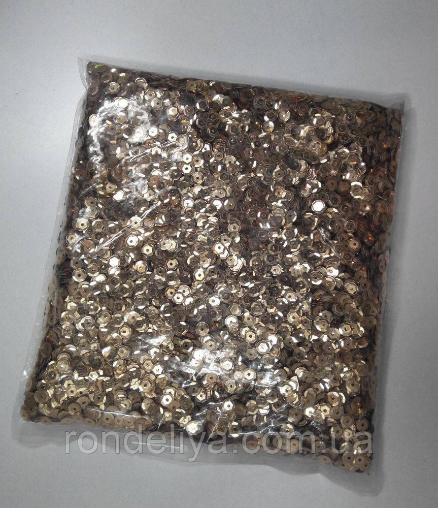 Пайетки 6,5-7,00 мм золото