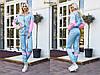 Трендовый спортивный костюм из плащевой ткани с яркими вставкам Размер: 42-44. Цвета разные (Р 2487), фото 3