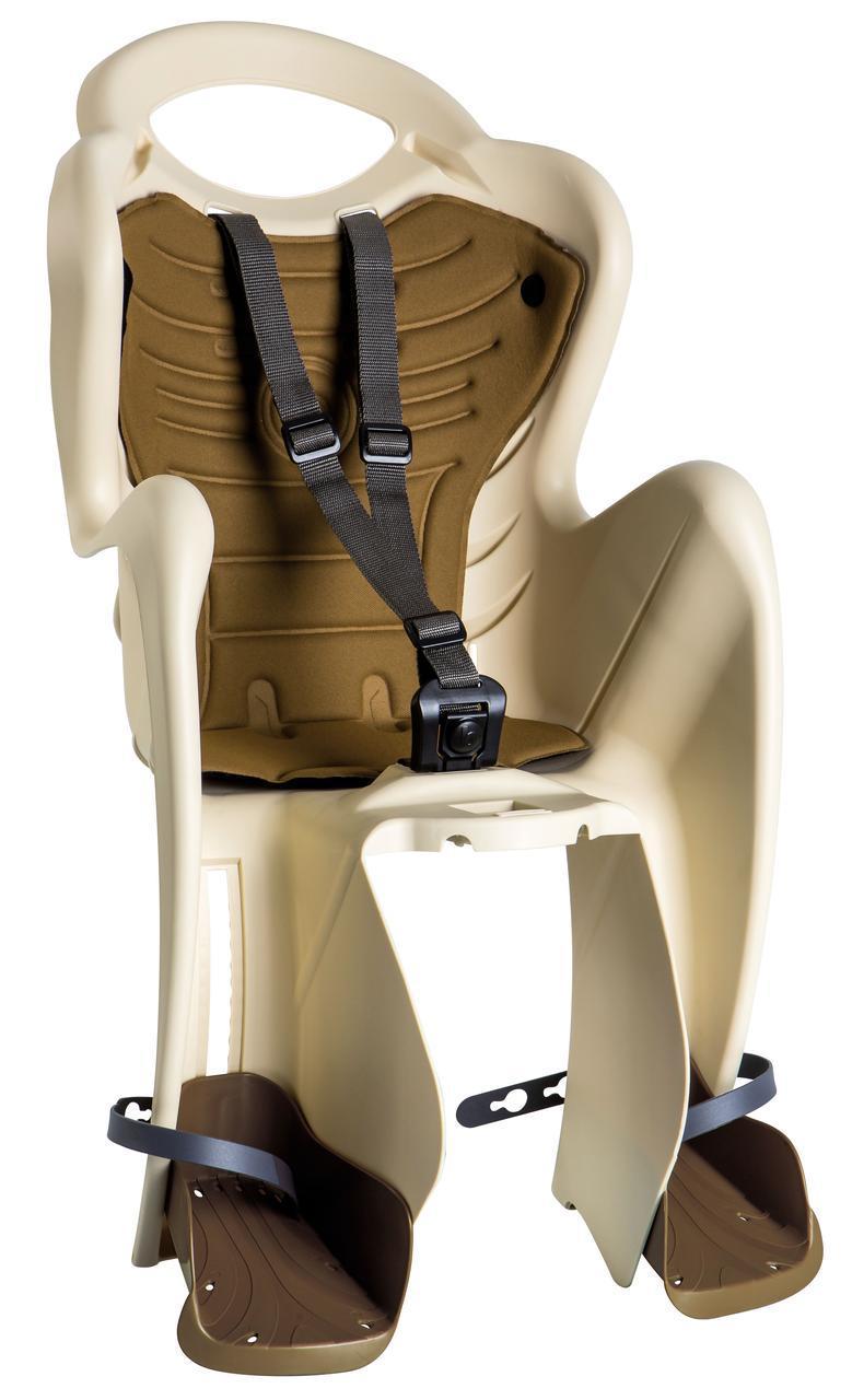 Сиденье задн. Bellelli Mr Fox Сlamp (на багажник) до 22кг бежевое с коричневой подкладкой