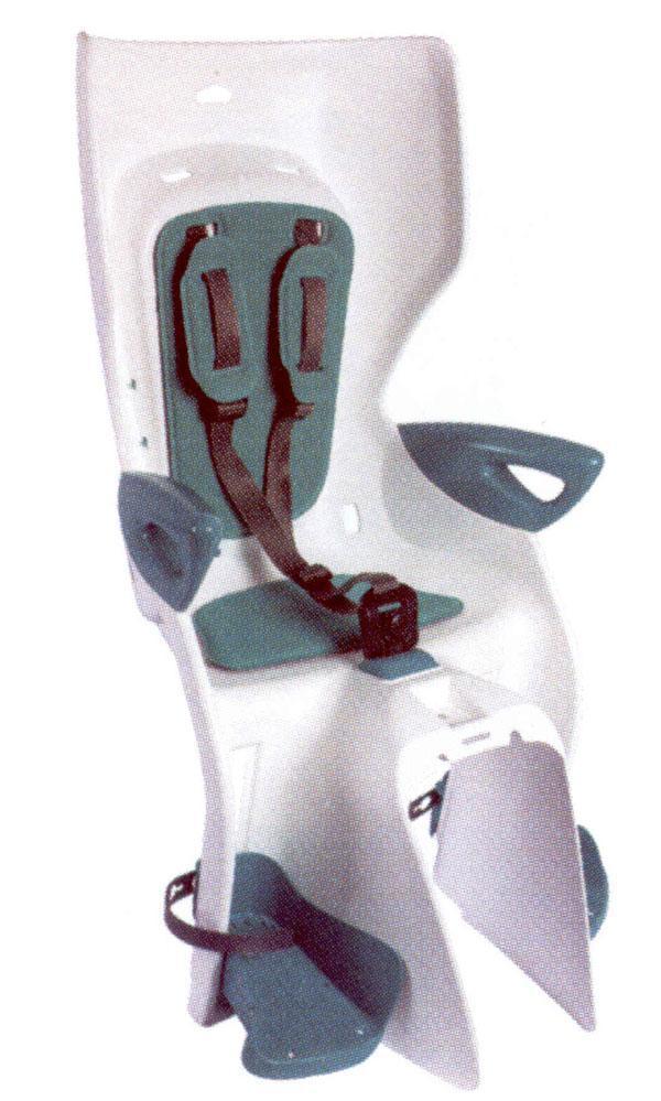 Сиденье задн. Bellelli Summer Сlamp (на багажник) до 22кг, белое с бирюзовой подкладкой