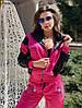 Трендовый спортивный костюм из плащевой ткани с яркими вставкам Размер: 42-44. Цвета разные (Р 2487), фото 6