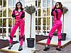 Трендовый спортивный костюм из плащевой ткани с яркими вставкам Размер: 42-44. Цвета разные (Р 2487), фото 7