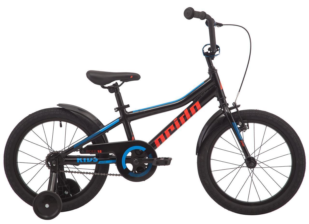 """Велосипед 18"""" Pride RIDER 18 черный 2019"""