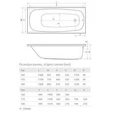 Ванна Radaway Tesalia 160x70 +ніжки (WA1-06-160x070U), фото 3