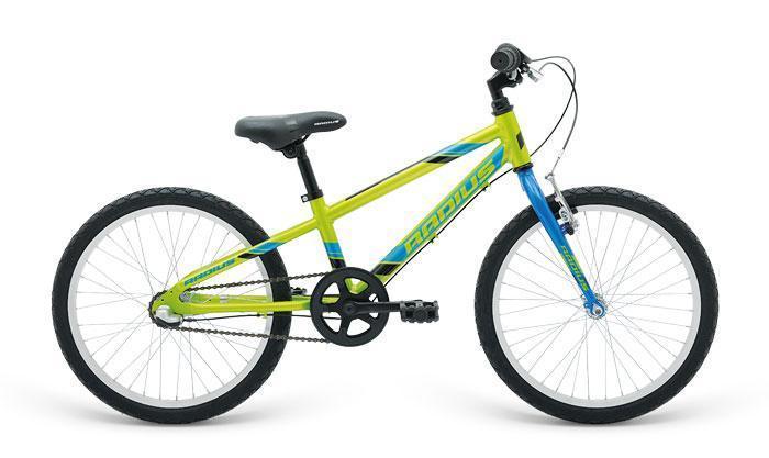 "Велосипед 20"" Radius Trailraiser 3 рама- 10.5"" Gloss Lime/Gloss Blue/Gloss Black"