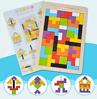 Деревянная развивающая головоломка мозаика Тетрис Candywood