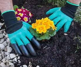 Перчатки с когтями для сада и огорода Garden Genie Gloves, фото 3