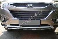 Накладки на бампера Хюндай IX35 2010 - 2013 (передняя и задняя)